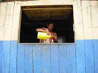 Biche being served by an Embera