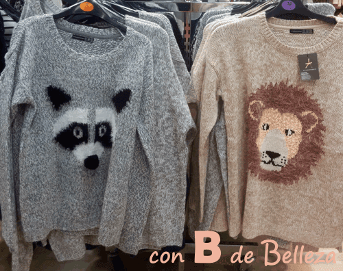 Jersey animales zorro y león