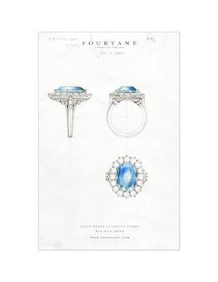 Fourtane Jewelry Watches Custom Engagement Ring by Juan Da Silva