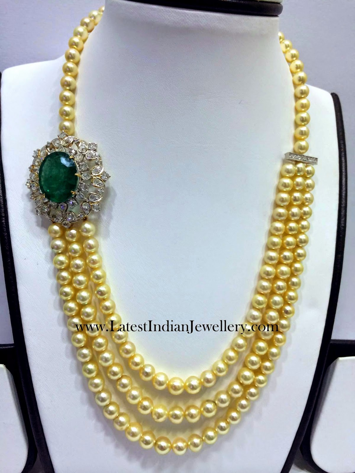 Pearls Mala with Diamond Mugappu