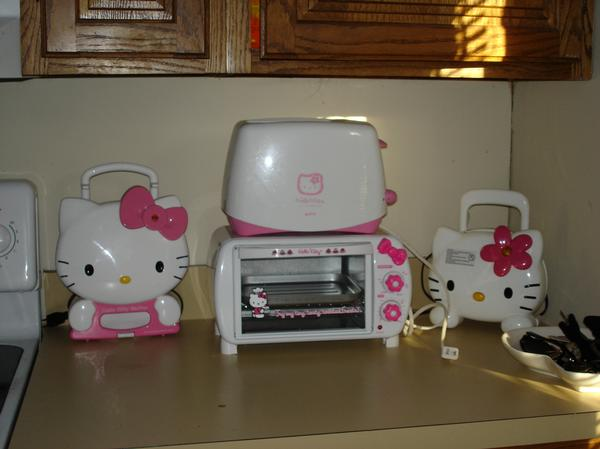 In The Next Picture Are A Few Of My Less Used Hello Kitty Appliances From Left To Right A Hello Kitty Coffee Machine I Bought This At Target