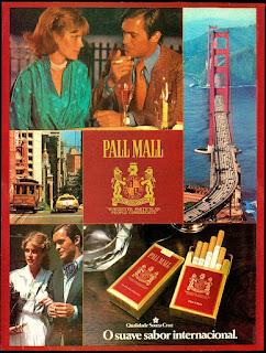 propaganda cigarros Pall Mall anos 70; cigarros souza cruz; propaganda cigarros - 1977. propaganda anos 70; história decada de 70; reclame anos 70; propaganda cigarros anos 70; Brazil in the 70s; Oswaldo Hernandez;