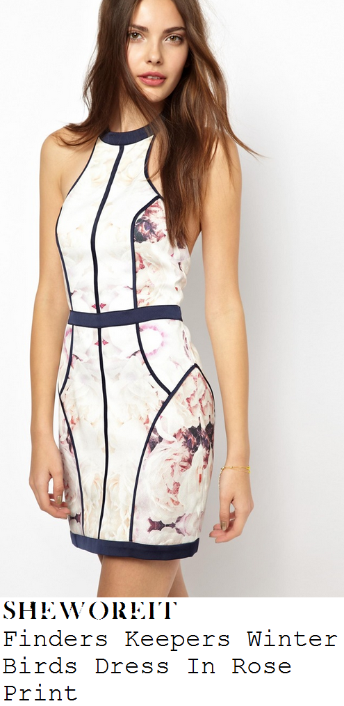 lauren-pope-white-pink-and-navy-blue-rose-floral-print-sleeveless-bodycon-dress-charlie-sims-birthday