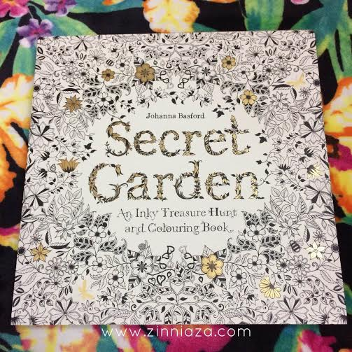 Esok Harinya Zai Pun Singgah Kedai Buku Popular Terus Beli SECRET GARDEN Colouring Book