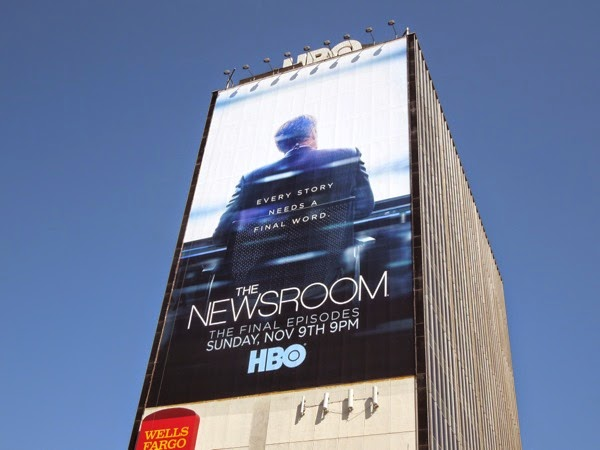The Newsroom giant final episodes billboard