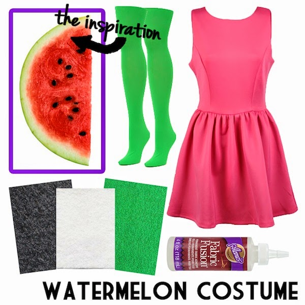Diy halloween costume ideas part 2 neon rattail this project is so painless it might actually be easier than eating a watermelon slice no messy hands either find a pink dress preferably a line solutioingenieria Gallery