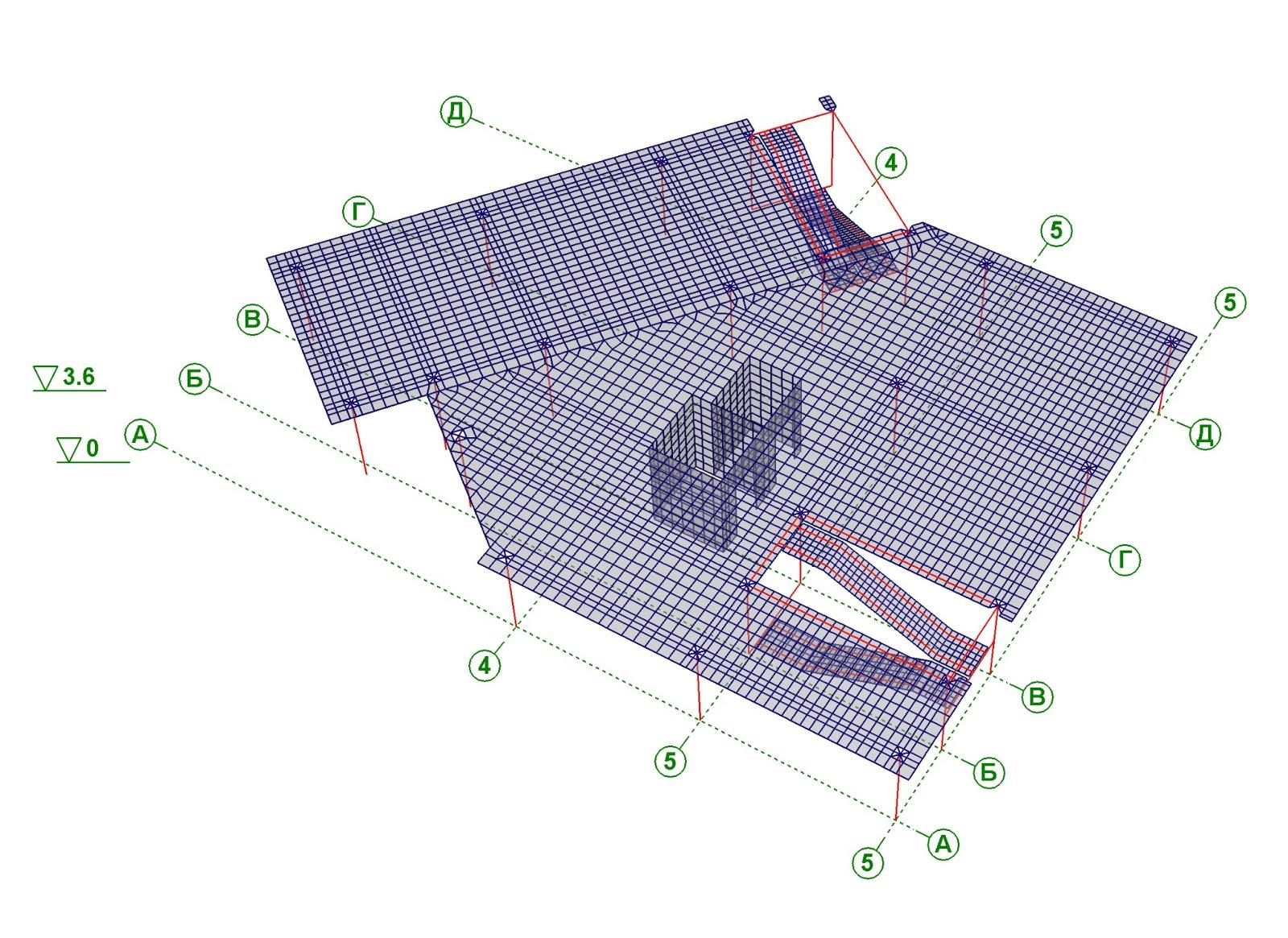 расчетная схема колонны 2 этажа