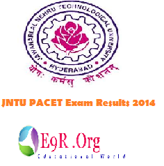 JNTU PACET Exam Results 2014