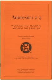 avoidnomore.org image: Anorexia 1-2-3: Working the Program and Not the Problem - SLAA booklet