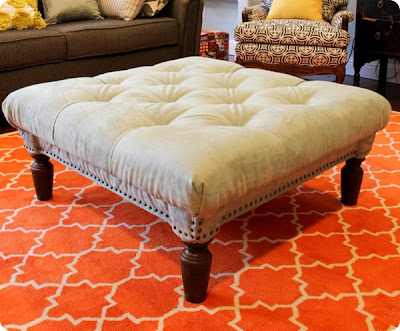 Coffee Table Turned Tufted Ottoman