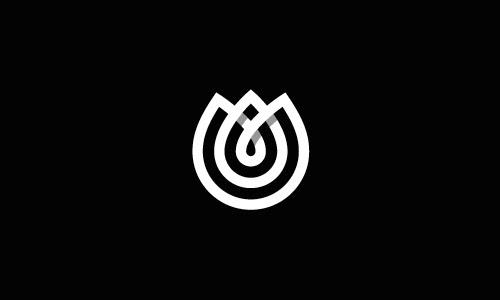Overlapping technique Logo Tulip