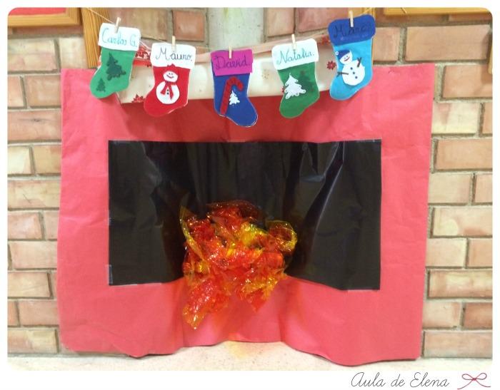 Decoraci n de navidad aula de elena - Mural navidad infantil ...