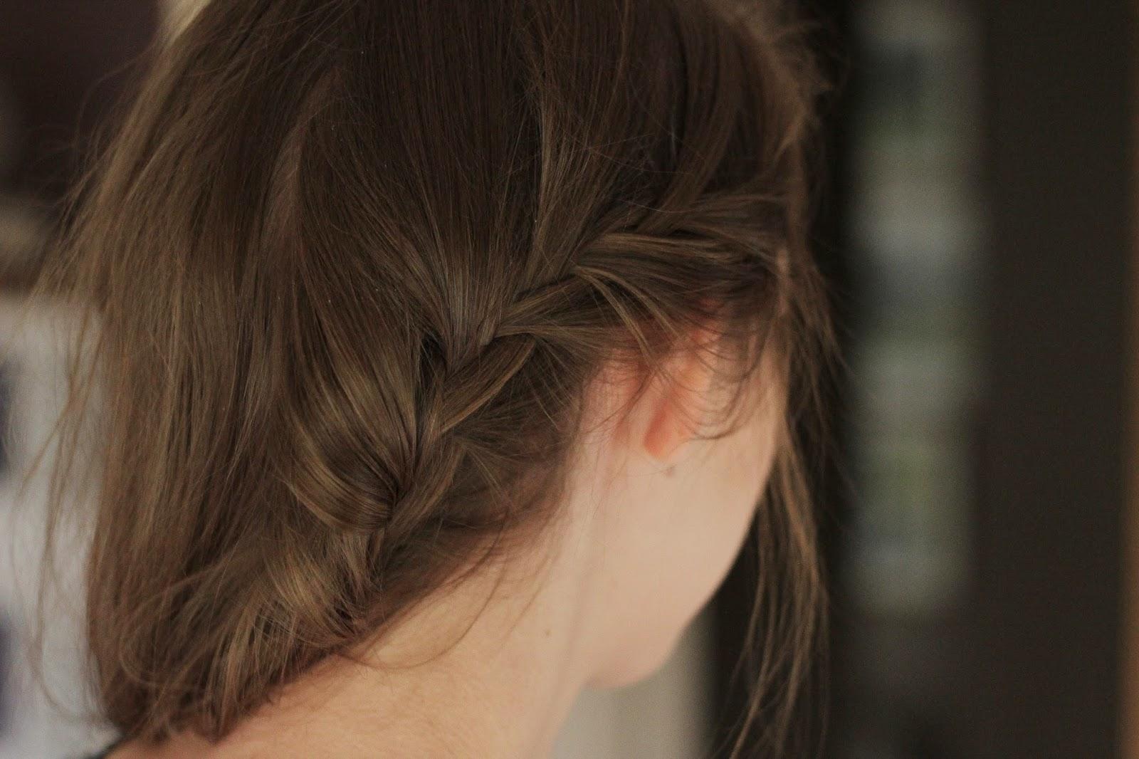 simpele haarstijlen, snelle simpele haarstijl side braid