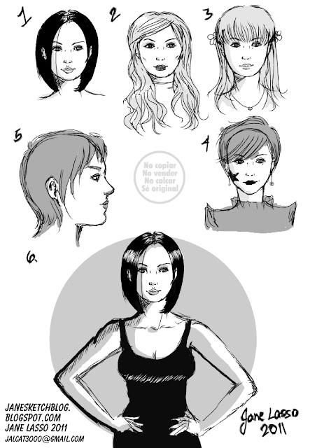 Caras de mujeres estilo comic americano