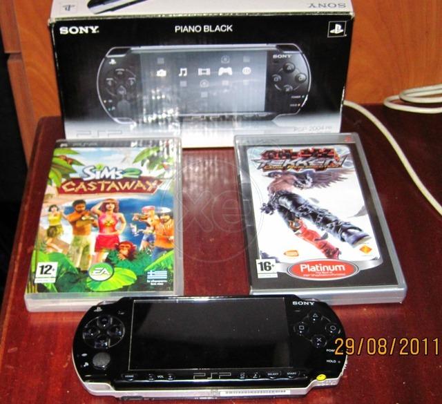 PSP 2004 slim&lite ΡΒ ολοκαίνουριο (€ 100) + 2 παιχνίδια δώρο