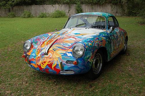 Damn Cool Cars: Psychedelic Porsche Car