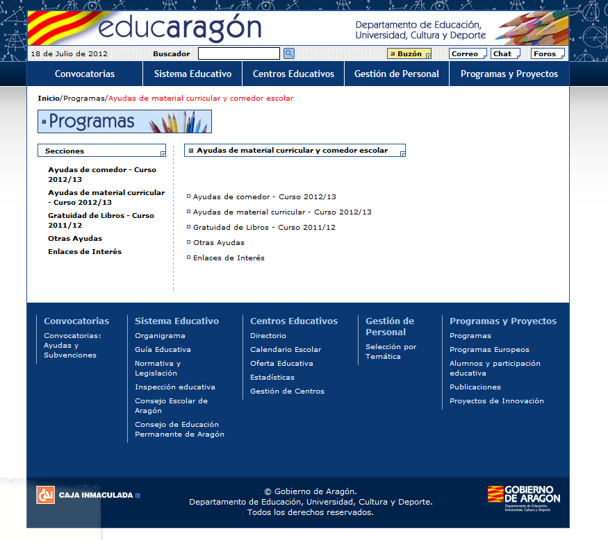www educaragon org becas comedor - 28 images - nota informativa ...