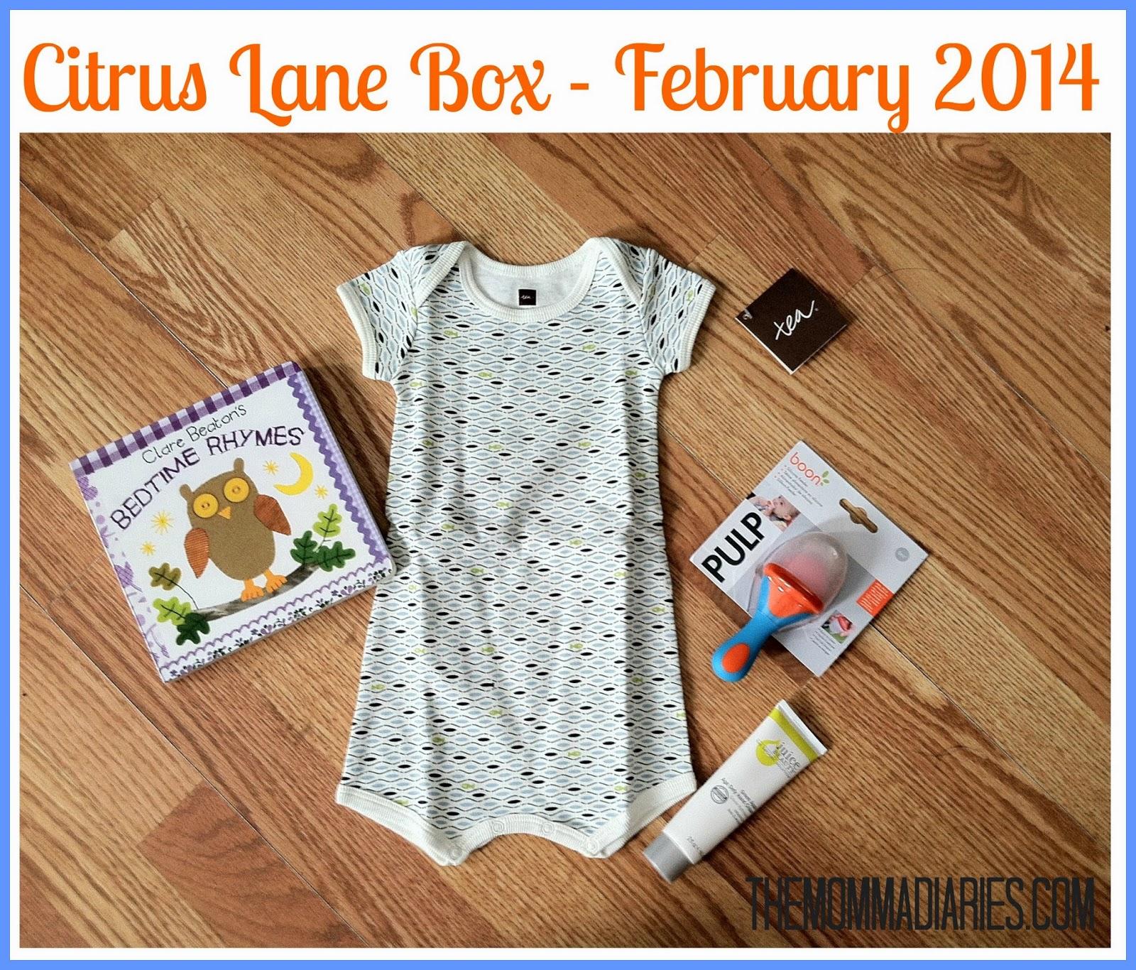 Citrus Lane Box February 2014