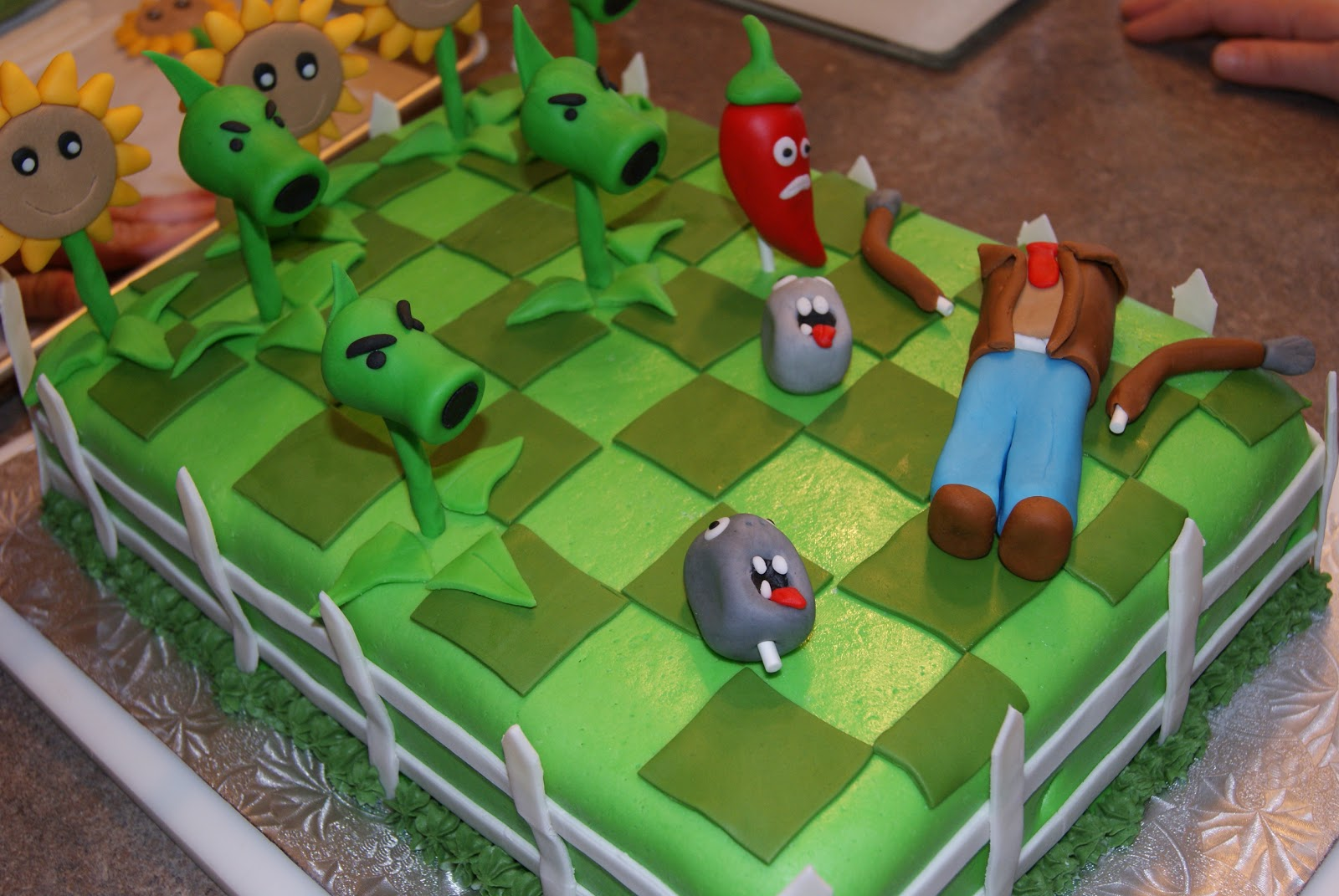 Little Kitchen or New Hip on the Prairie Plants vs Zombies Cake
