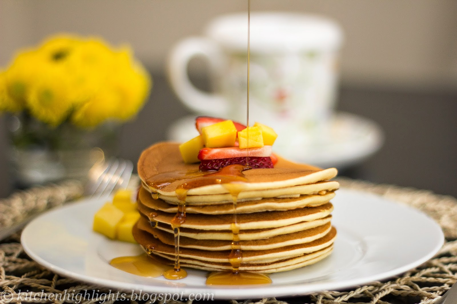 Homemade pancakes are a beautiful and delicious choice for the weekend breakfast or brunch
