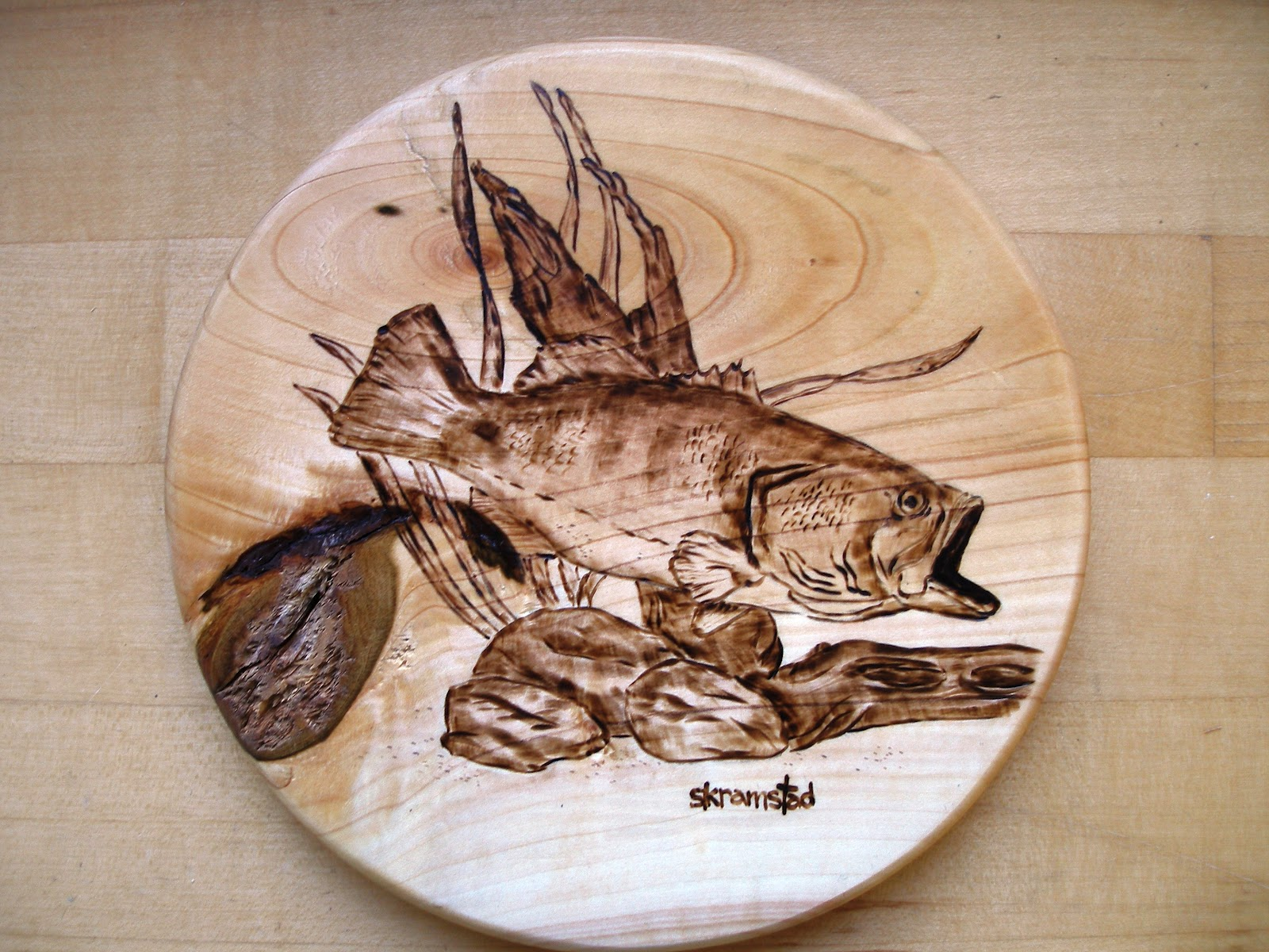 Wood Burning Fish Patterns Car Interior Design