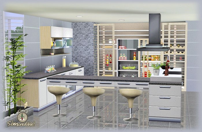 My sims 3 blog form function kitchen pantry and for Kitchen ideas sims 4