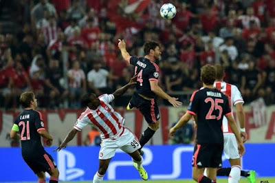 Bermain Di Kandang Sendiri Olympiakos Takluk 0-3 Atas Bayern Munich