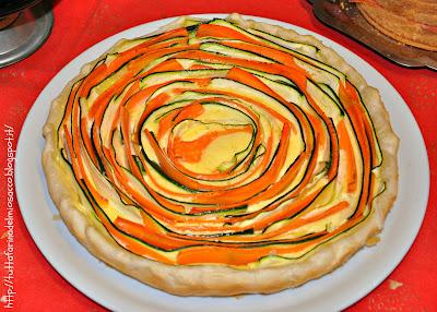 quiche con carote e zucchine