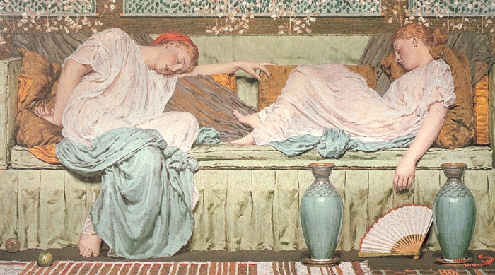Albert Joseph Moore 1841-1893 | British Classicist painter