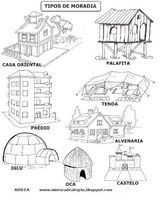 Hist  Ria Das Moradias   Atividades E Modelos De Casas