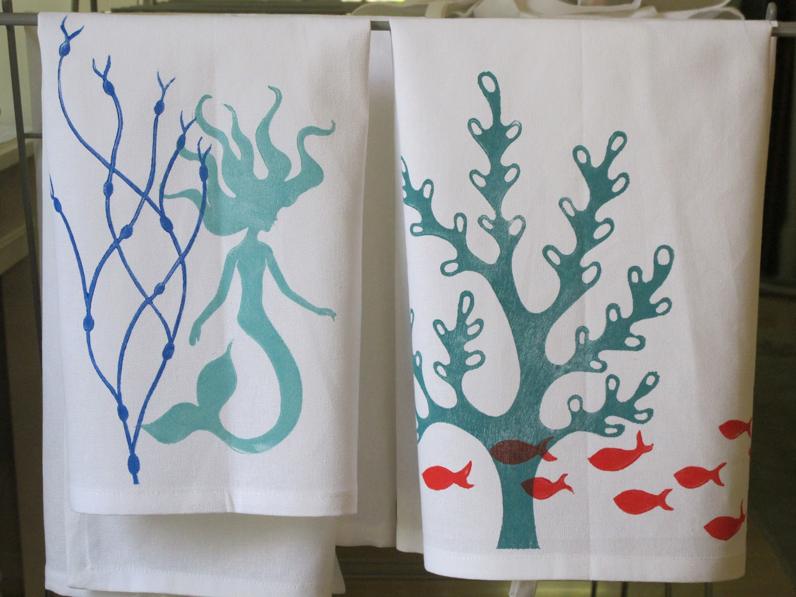 Bumble Belly Designs: New Tea Towels Designs