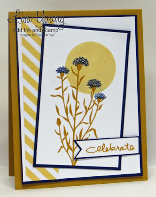 Stampin' Up! Wild About Flowers stamp set. Handmade celebrate card by Lisa Young, Add Ink and Stamp