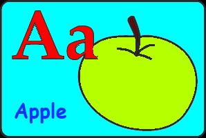 Карточка буква A