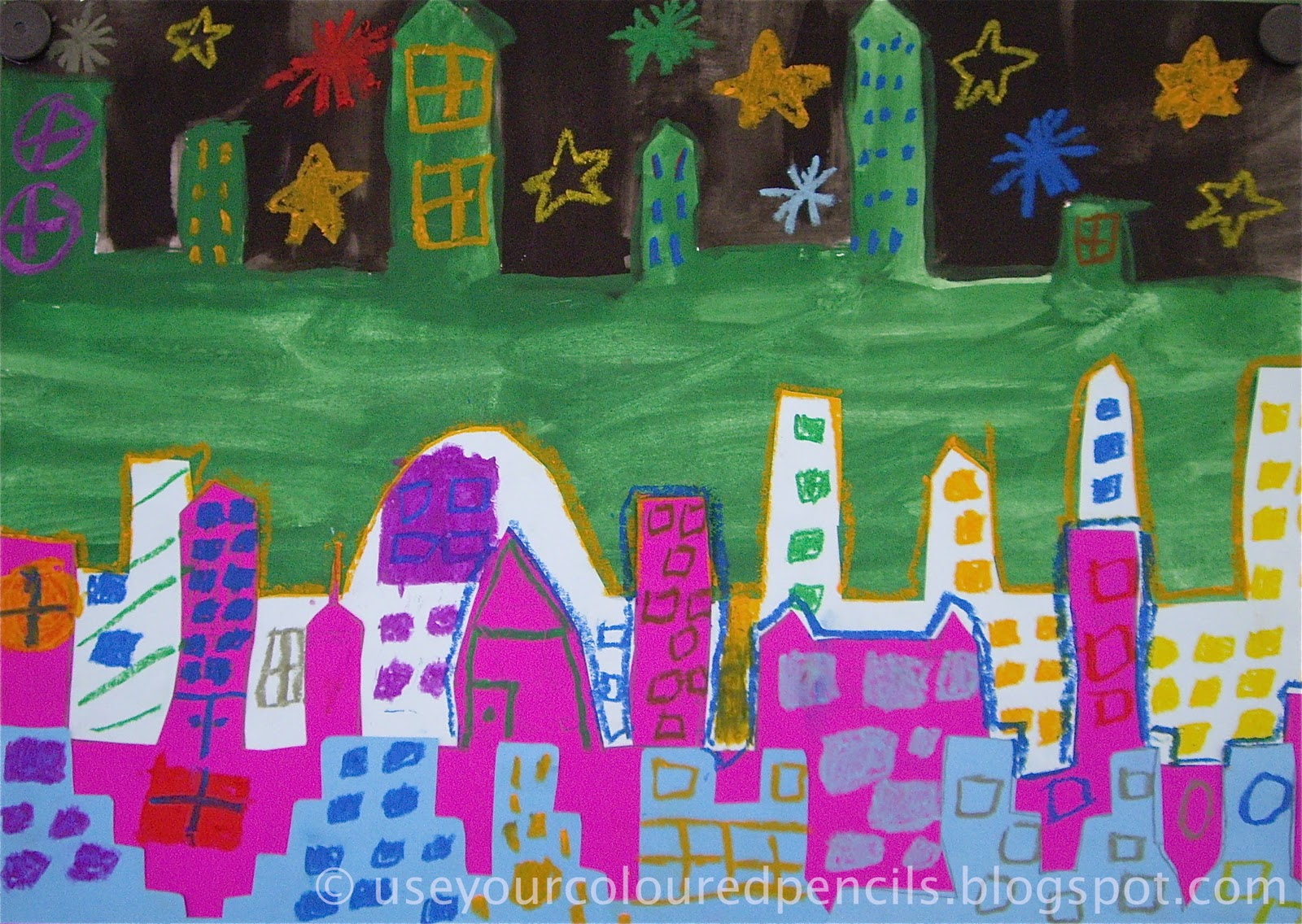Use Your Coloured Pencils: Bright Lights, Big City.