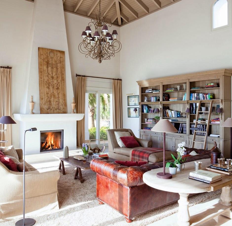 Stebbing house desing salones con chimenea for Salones con chimenea