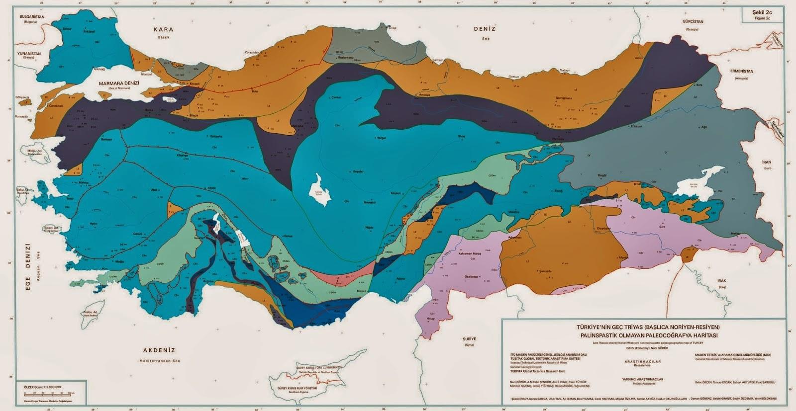 T�rkiye Paleoco�rafya Haritas�