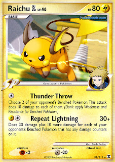 Raichu Pokemon Card Rising Rivals set