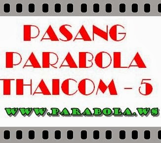 pasang parabola thaicom 5