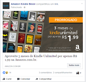 Testando o Kindle Unlimited