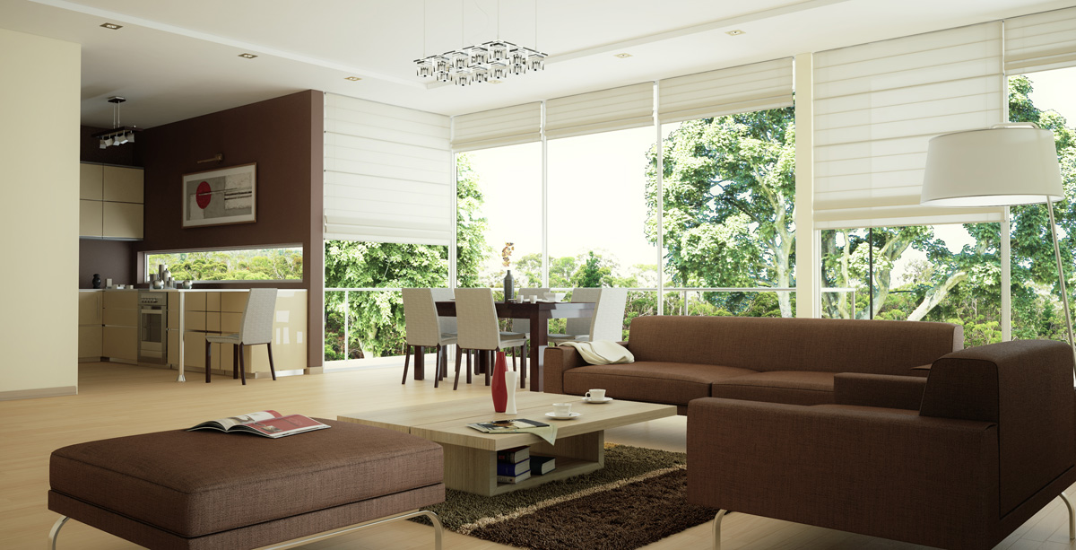 10 excelentes renders de arquitectura 3d casa minimalista for Diseno de jardines interiores modernos