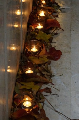 Fall foliage candles