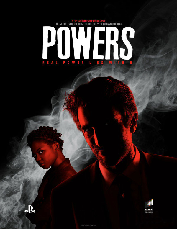 Nova série da Sony PlayStation Network, POWERS com Sharlto Copley