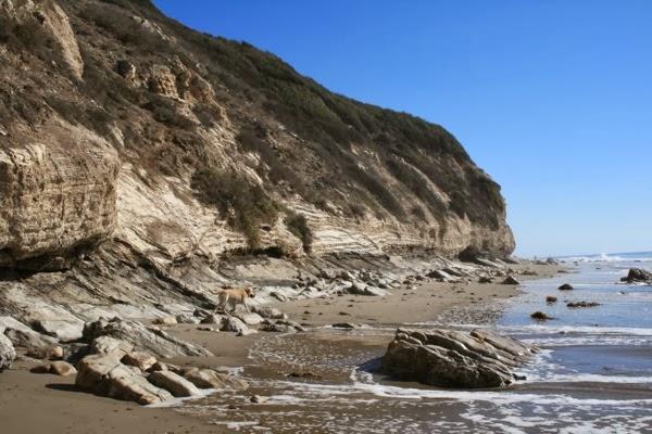 Hendrys Beach cliffs Santa Barbara