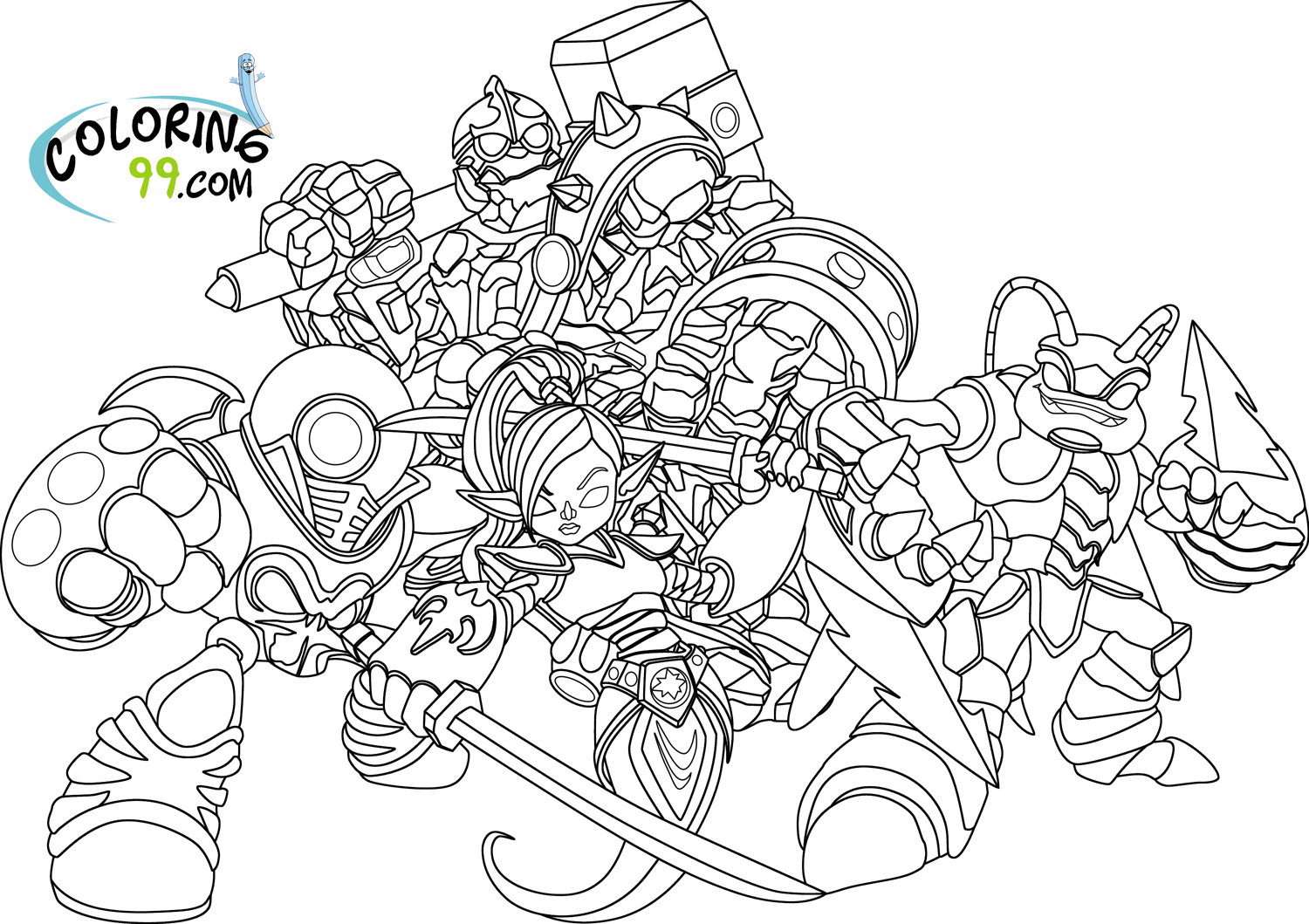 Skylanders Giants Coloring Pages | Team colors
