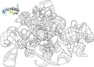 skylanders giants coloring pages