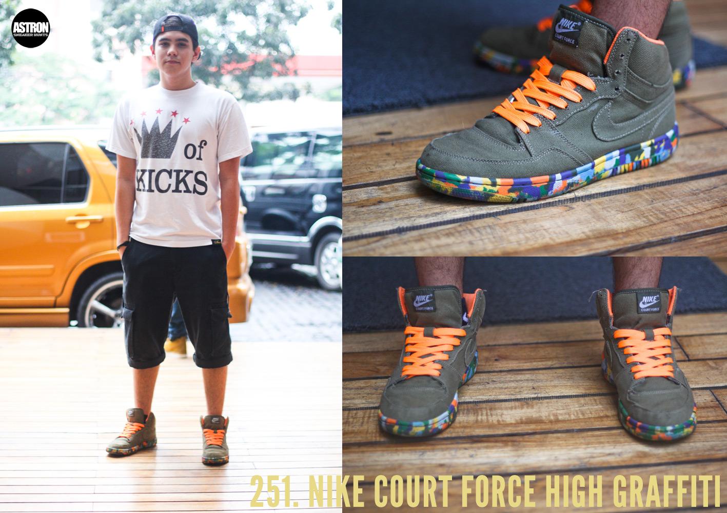 nike free run grise - Astron Sneaker Hunts: 251. Nike Court Force High Graffiti