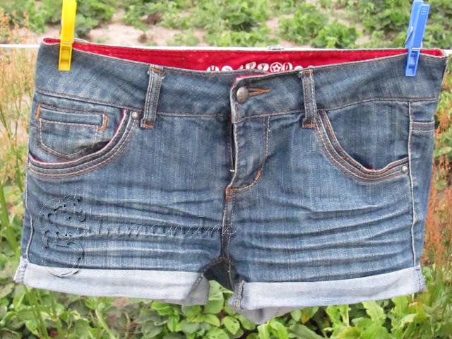 Szorty ze starych spodni