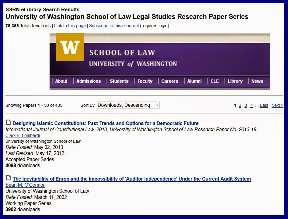 UW Law's page on SSRN