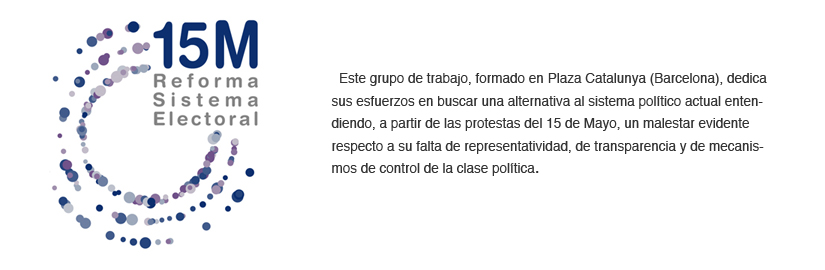 Reforma del sistema electoral 15-M