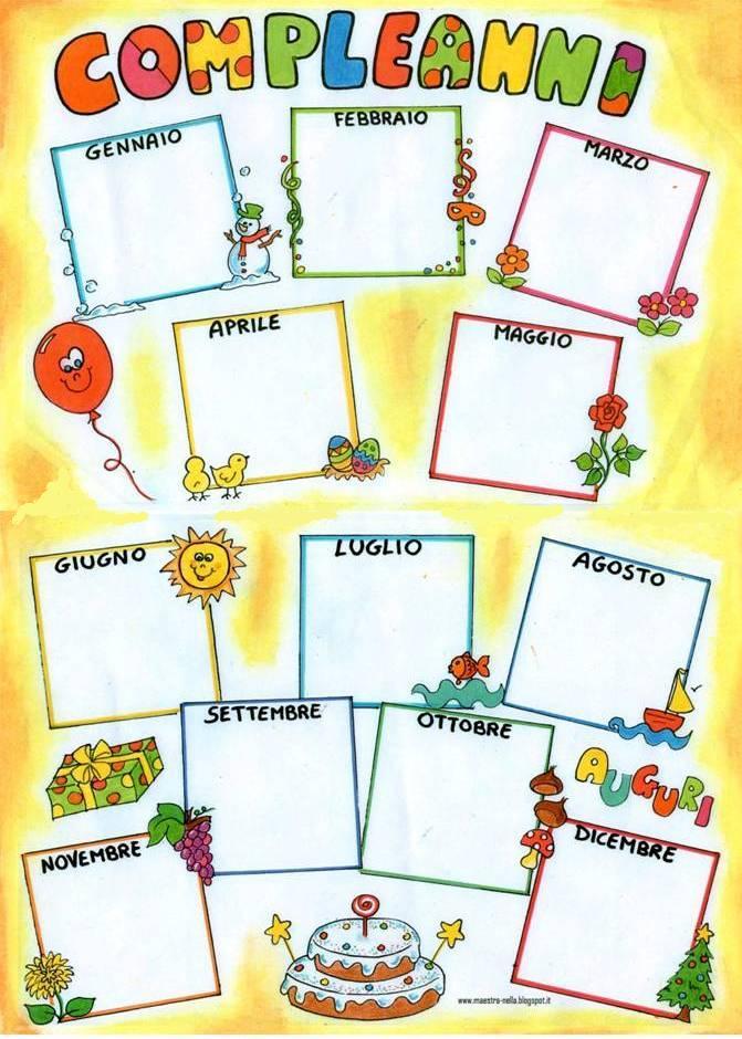 Maestra nella cartellone 39 compleanni 39 for Idee per l accoglienza nella scuola dell infanzia